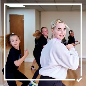 Girls dancing in a class